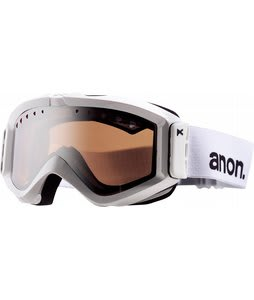 Anon Figment Painted Goggles White/Silver Amber Lens