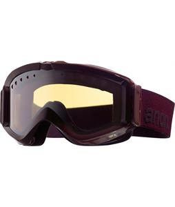 Anon Figment Painted Goggles Crimson/Silver Amber Lens