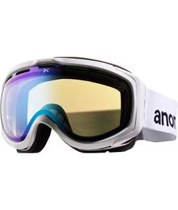 Anon Hawkeye Painted Asian Fit Goggles White/Blue Lagoon Lens