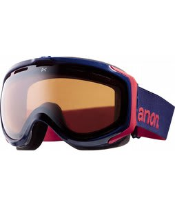 Anon Hawkeye Painted Goggles Team Blue/Silver Amber Lens