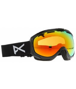Anon Hawkeye Painted Goggles Black/Red Solex Lens