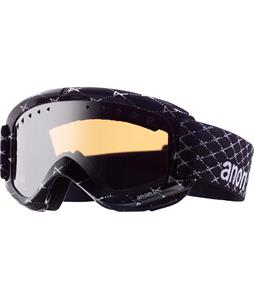 Anon Helix Printed Asian Fit Goggles Black Logonet/Silver Mirror Lens