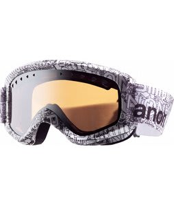 Anon Helix Printed Goggles Etched/Silver Amber Lens