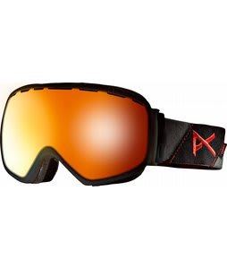 Anon Insurgent Goggles Black Suede/Red Solex Lens
