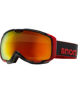 Anon M1 Goggles Black/Red Solex Lens