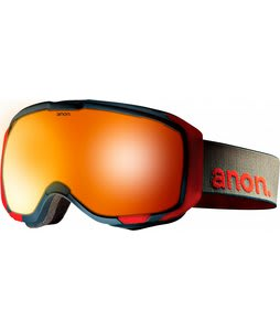 Anon M1 Goggles Slate/ Red Solex Lens