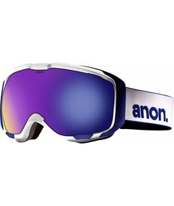 Anon M1 Goggles White/Blue Solex Lens