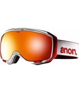 Anon M1 Goggles White/Red Solex Lens