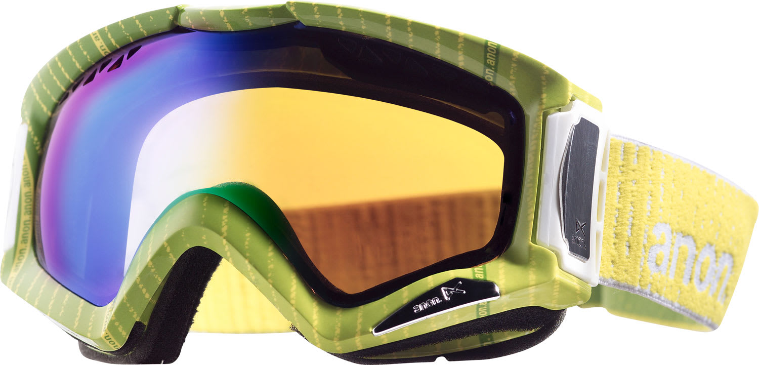 Anon Realm Printed Goggles Pinstryper/Green Solex Lens - Men's