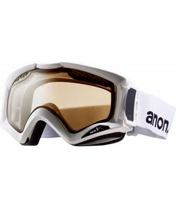 Anon Realm Painted Goggles White/Silver Amber Lens