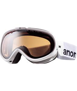 Anon Solace Painted Goggles White/Silver Amber Lens