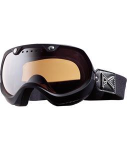 Anon Vintage Premium Goggles Black Emblem/Silver Amber Lens