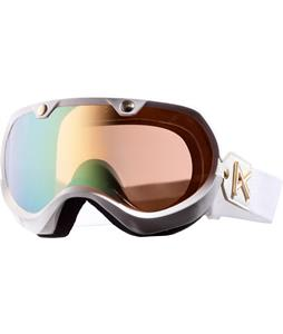 Anon Vintage Premium Goggles White Emblem/Gold Chrome Lens