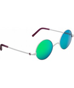 Anon Wizard Sunglasses White/Green Mirror Lens