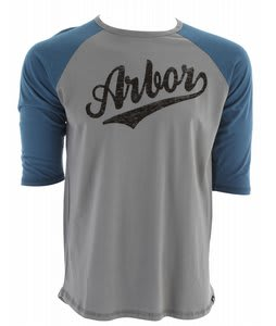 Arbor Durham 3/4 Sleeve T-Shirt Grey