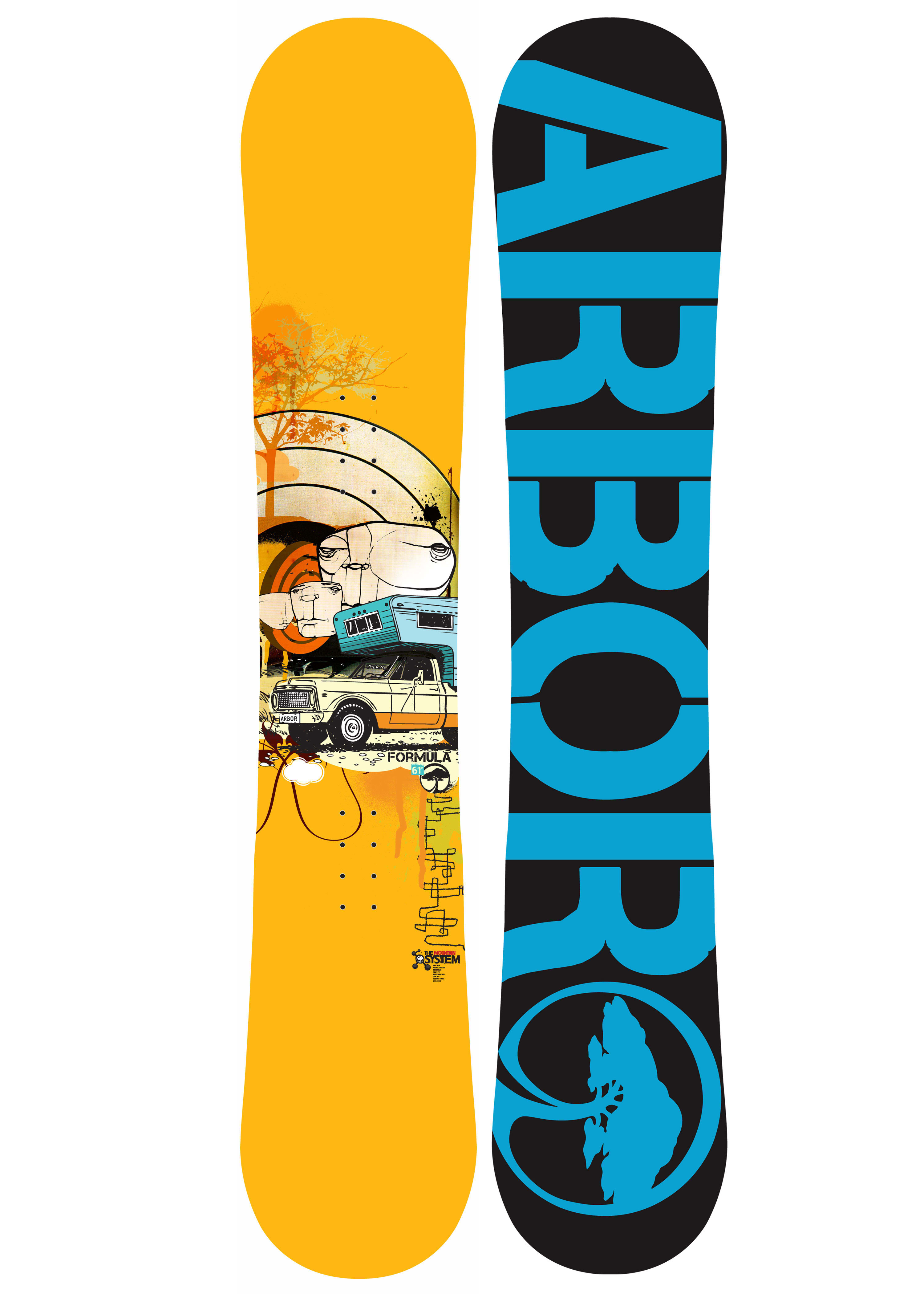arbor formula snowboard review the house