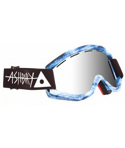 Ashbury Kaleidoscope Goggles Blue Acid Wash/Silver Mirror Lens