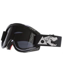 Ashbury Kaliedoscope Snowboard Goggles Black Skull/Dark Smoke Lens