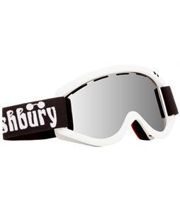 Ashbury Kaliedoscope Goggles White/Silver Mirror Lens