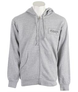 Ashbury Switch Skull Hoodie Heather Grey