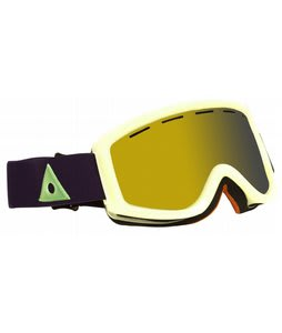 Ashbury Warlock Goggles Glow In The Dark/Gold Mirror Lens
