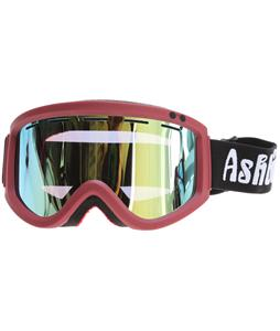 Ashbury Warlock Snowboard Goggles Burgandy/Gold Mirror Lens
