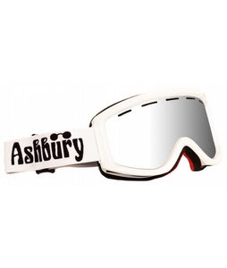 Ashbury Warlock Goggles White/Silver Mirror Lens
