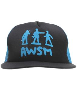 AWSM Army Men Trucker Cap Black/Cyan