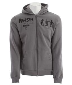 AWSM Army Men Zip Up Hoodie Gray