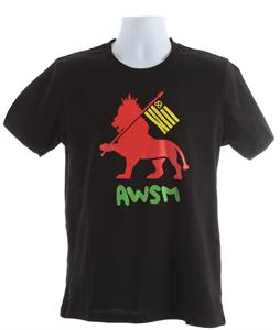 AWSM Lion Flag T-Shirt Black
