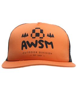 AWSM Outdoor Division Trucker Cap Orange/Black