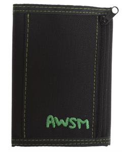 AWSM Velcro Wallet Black/Green