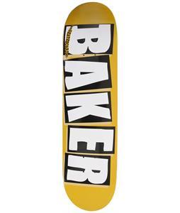 Baker Brand Logo Skateboard Yellow/Black