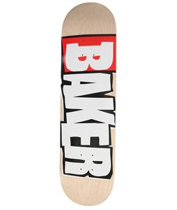 Baker Reset Logo Skateboard Wood/White
