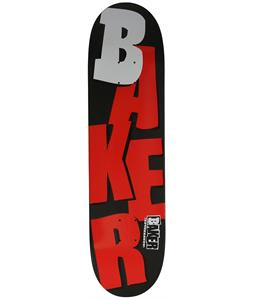 Baker Stacked Skateboard Matte Black/Red