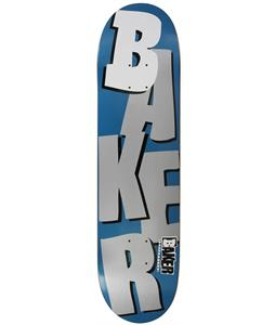 Baker Stacked Skateboard Metallic Navy/Silver 8.19in