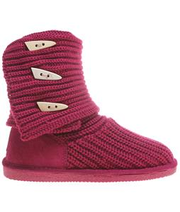 Bearpaw Knit Tall Boots Pom Berry