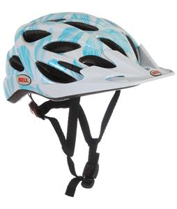 Bell Arella Bike Helmet White/Teal Flowers Adjustable