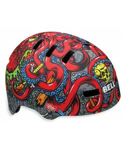 Bell Fraction Bike Helmet Matte Titanium/Red Jp Octopus