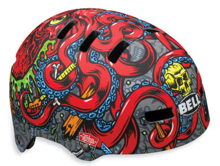 Shop for Bell Fraction Bike Helmet Matte Titanium/Red Jp Octopus - Kid's