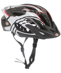 Bell Influx Bike Helmet White/Black/Red Splinter