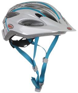 Bell Piston Bike Helmet Silver/Turquoise Splinter Adjustable