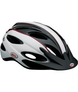 Bell Piston Bike Helmet White/Black/Red Rally