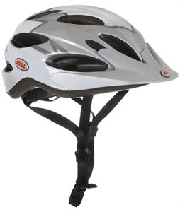 Bell Piston Bike Helmet White/Silver Dagger Adjustable