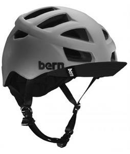 Bern Allston Bike Helmet Matte Grey w/ Visor