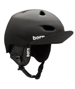 Bern Brentwood Snowboard Helmet Matte Black/Black Cordova Audio Flip Visor