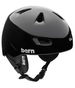 Bern Brentwood Zipmold Snow Helmet Gloss Black w/ Black Liner