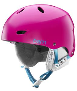 Bern Brighton Thinshell Snow Helmet Satin Magenta/White Cordova
