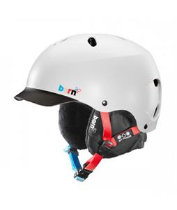 Bern Lenox EPS Snow Helmet Satin White w/ Black Brim