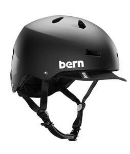 Bern Macon Bike Helmet Matte Black w/ Visor